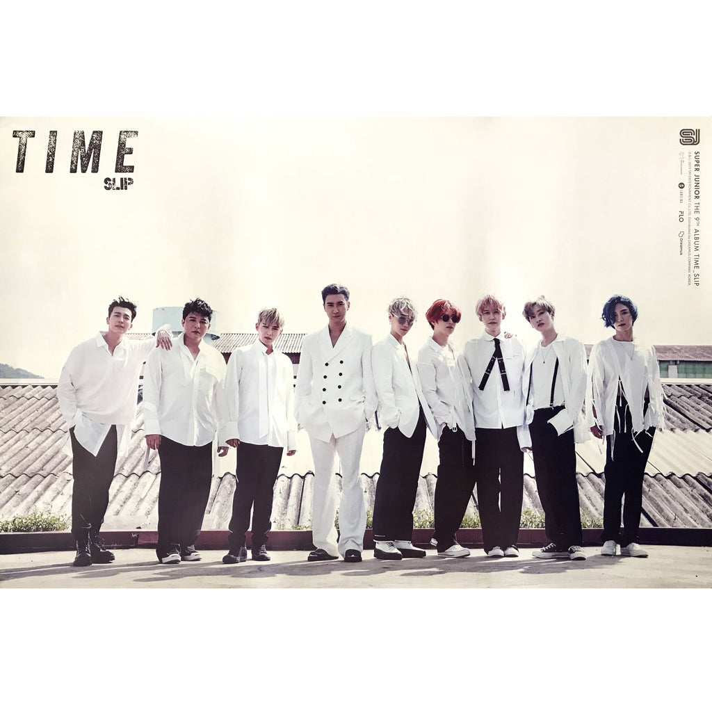 SUPER JUNIOR | 슈퍼쥬니어 | 9TH ALBUM [TIME SLIP] | (GROUP VER.) POSTER ONLY