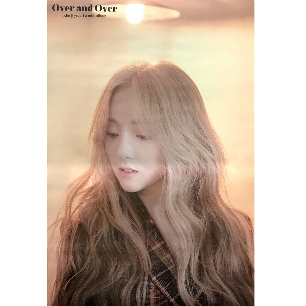 KIM JIYEON | 1st mini album [OVER AND OVER] | (VERSION A) POSTER ONLY
