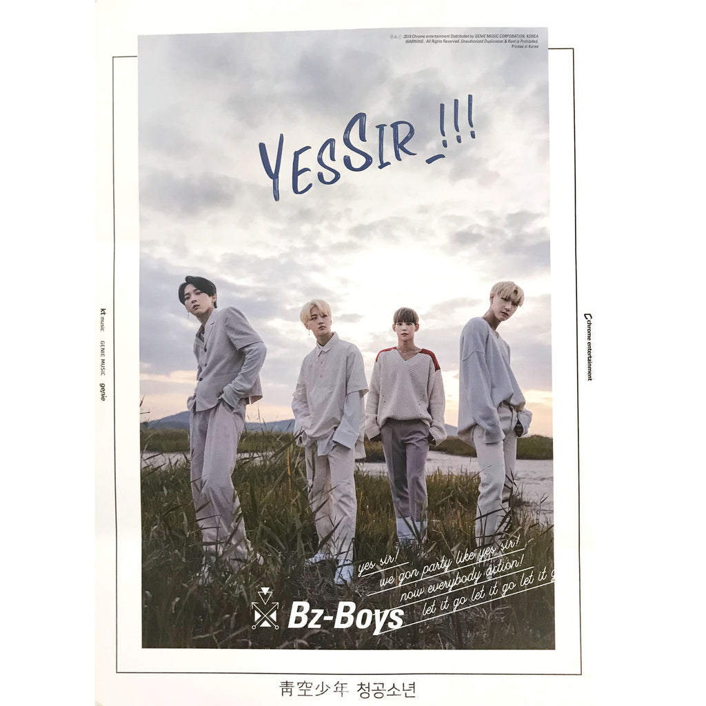 BZ-BOYS | 2ND SINGLE ALBUM [BLUE] POSTER ONLY