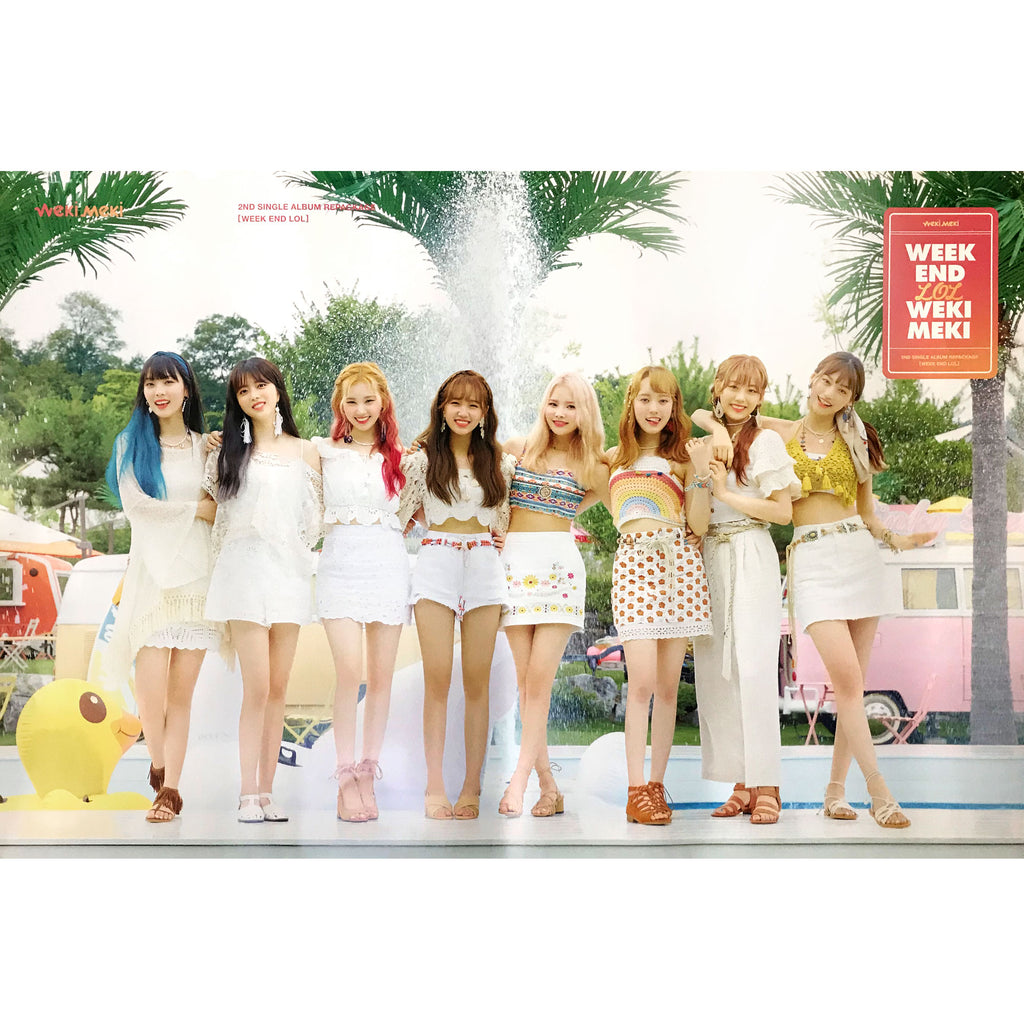 WEKI MEKI | 2ND SINGLE REPACKAGE [WEEK END LOL] | POSTER ONLY
