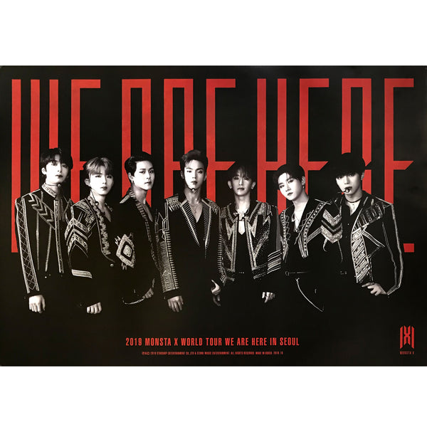 MONSTA X | 2019 WORLD TOUR [WE ARE HERE] IN SEOUL | (DVD VER) POSTER ONLY