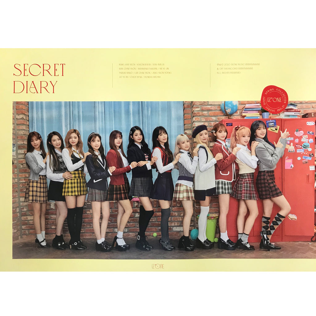 아이즈원 | IZ* ONE | SECRET DIARY | (PHOTOBOOK PACKAGE VER.) POSTER ONLY