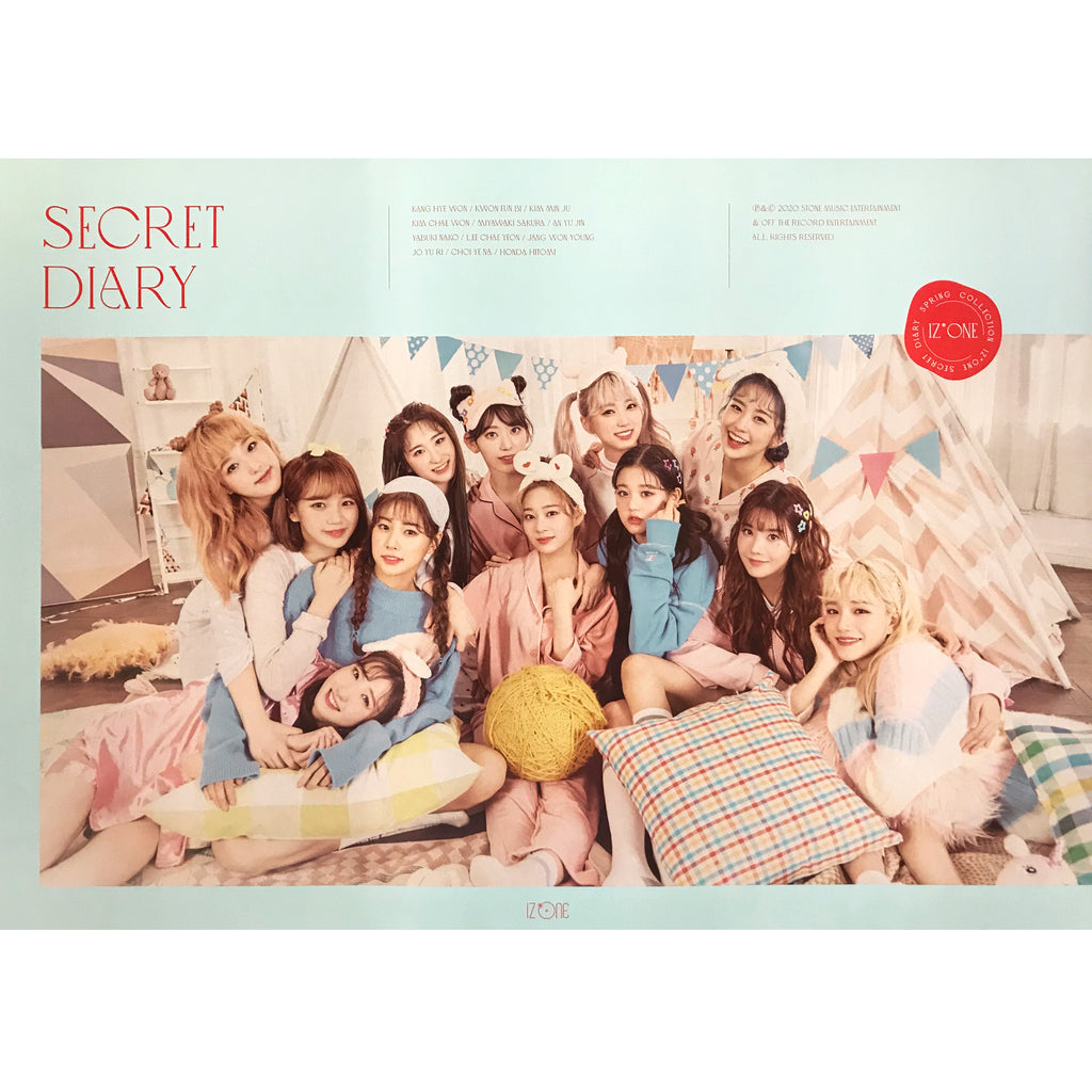 아이즈원 | IZ* ONE | SECRET DIARY | (CALENDAR PACKAGE VER.) POSTER ONLY