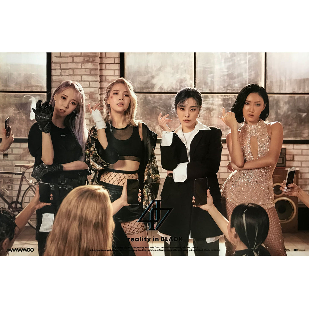 MAMAMOO | 2ND ALBUM [REALITY IN BLACK] | (VERSION C) POSTER ONLY