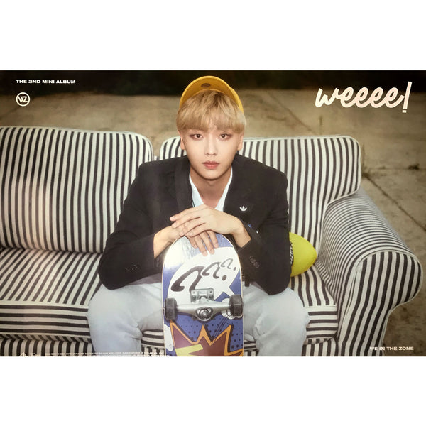 WE IN THE ZONE | 2ND MINI ALBUM [WEEEE!] | (VER. A) POSTER ONLY