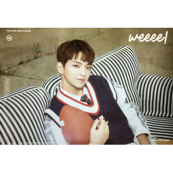 WE IN THE ZONE | 2ND MINI ALBUM [WEEEE!] | (VER. D) POSTER ONLY