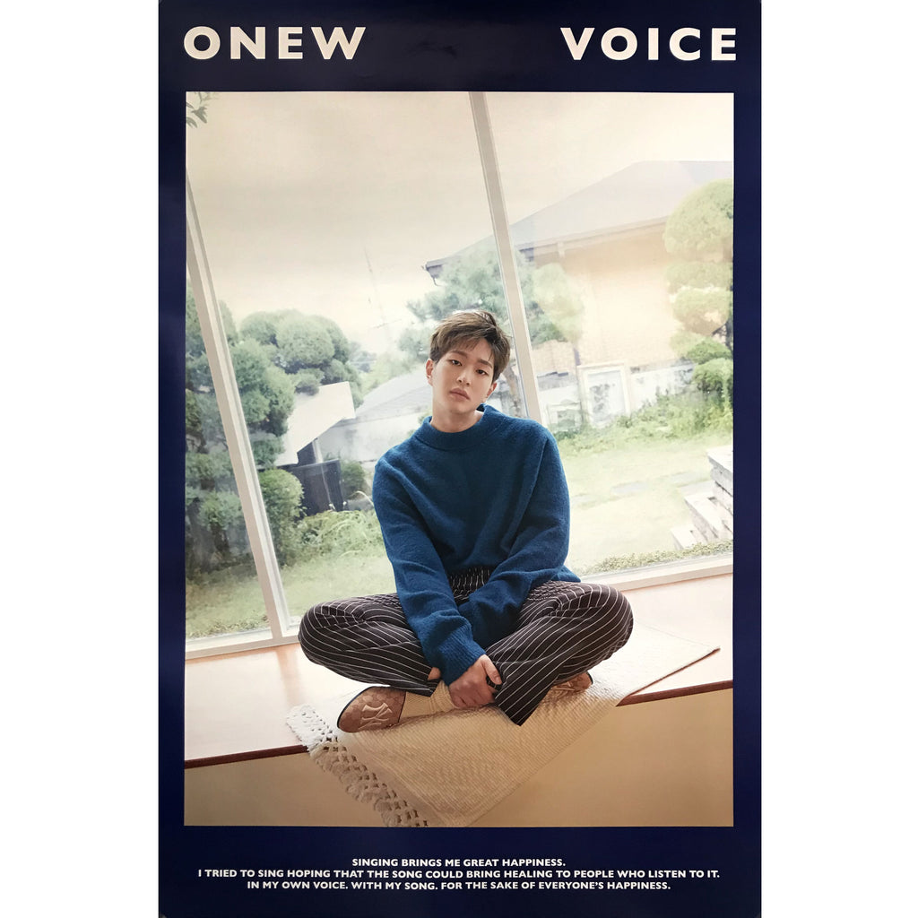 ONEW | 1ST MINI ALBUM [VOICE] POSTER ONLY