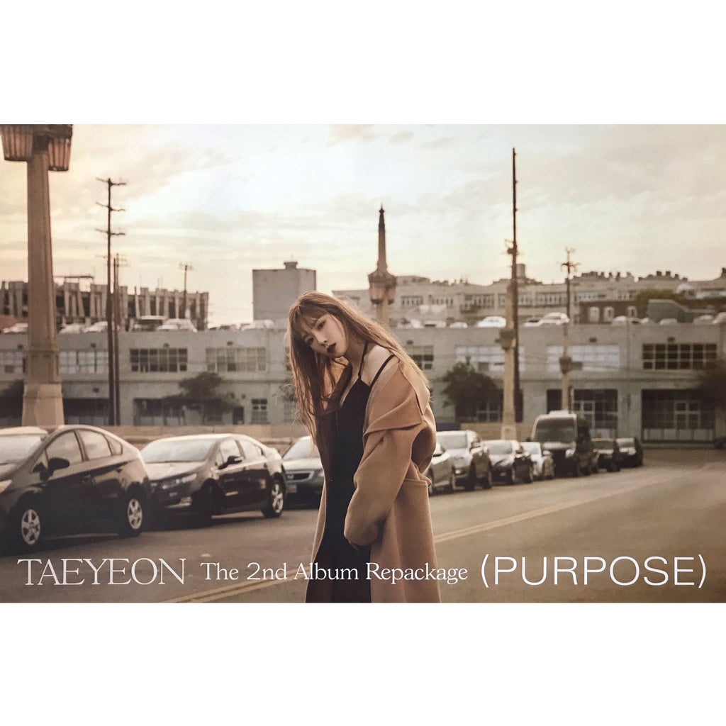 태연 | TAEYEON | 2ND ALBUM [PURPOSE] REPACKAGE | (PURPLE VER.) POSTER ONLY