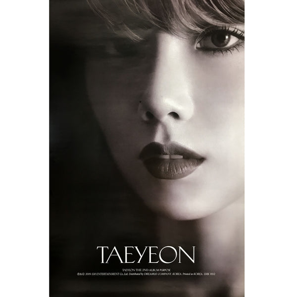 TAEYEON | 2ND ALBUM [PURPOSE] (WHITE VERSION) POSTER ONLY