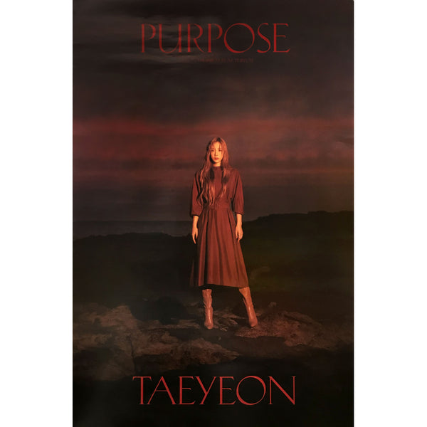 TAEYEON | 2ND ALBUM [PURPOSE] (DELUXE VERSION B) POSTER ONLY