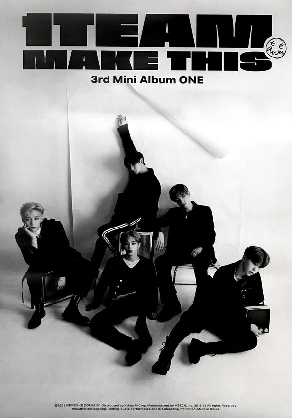 원팀 | 1TEAM | 3RD MINI ALBUM [ONE] | (THIS VER.) POSTER ONLY