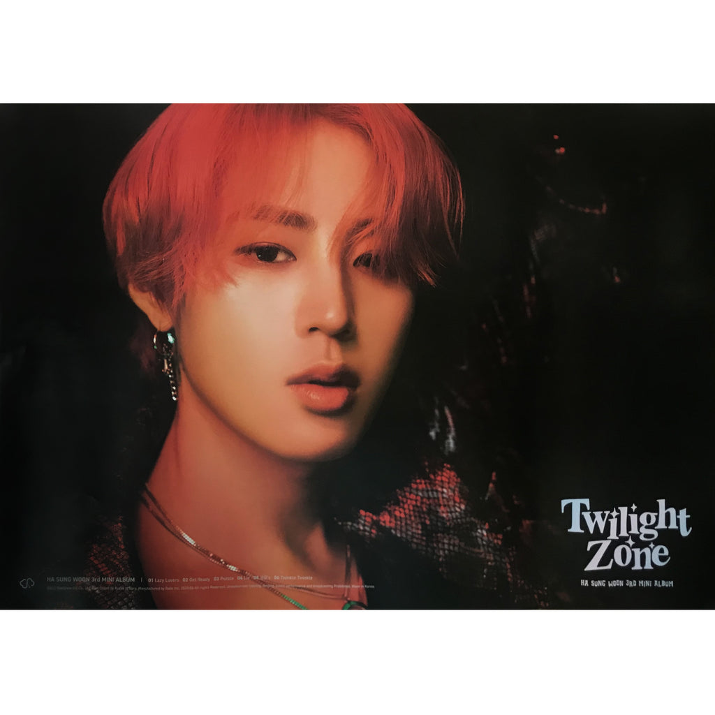 Copy of 하성운 | HA SUNG WOON | 3RD MINI ALBUM [TWILIGHT ZONE] | (VER. B) POSTER ONLY