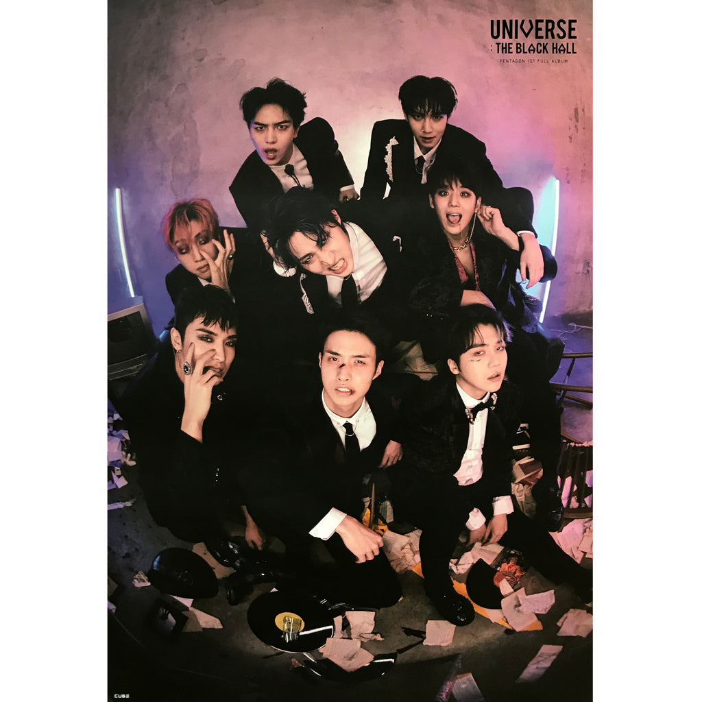 PENTAGON | 펜타곤 | 1ST ALBUM [UNIVERSE : THE BLACK HALL] | (DOWNSIDE VER.) POSTER ONLY