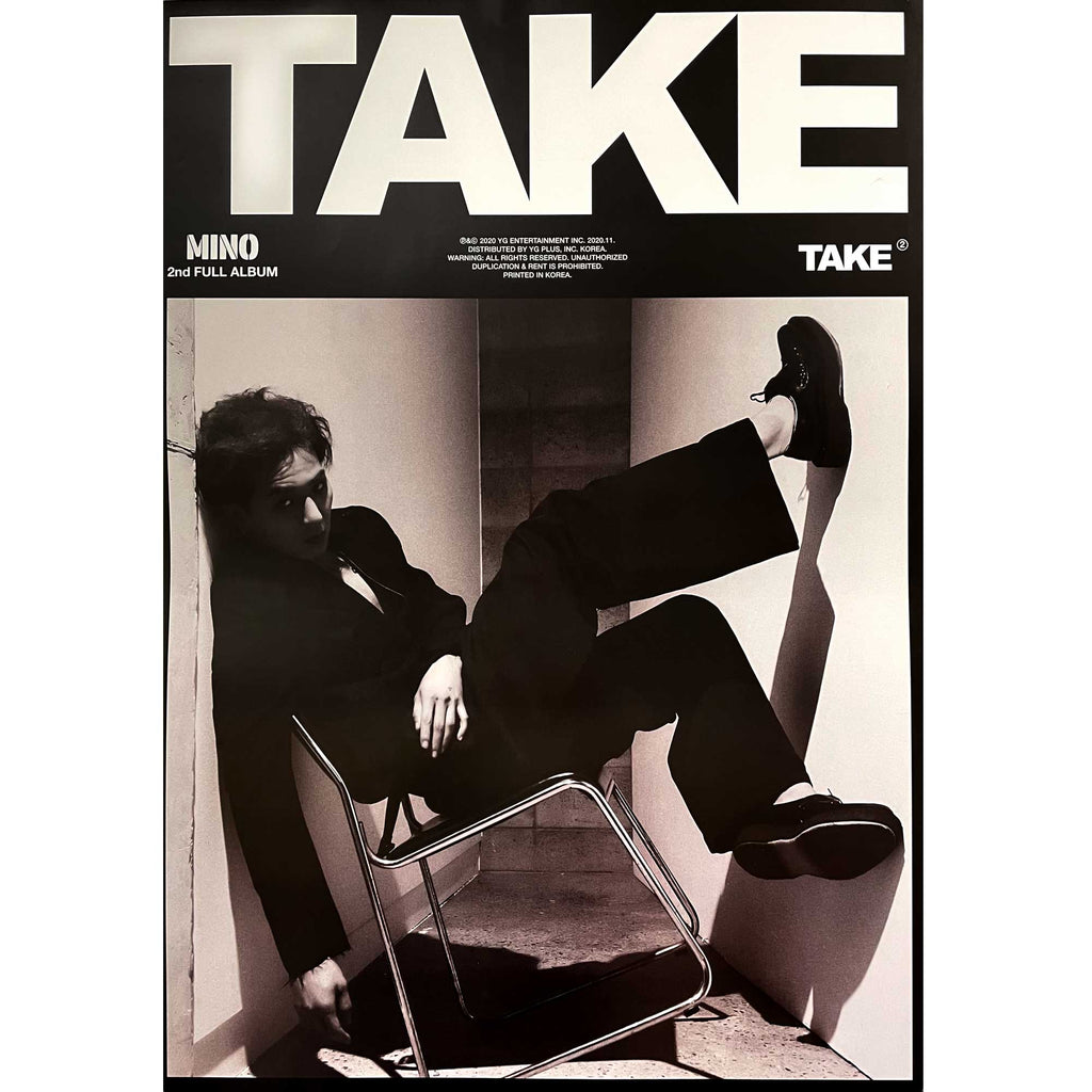 송민호 | MINO | 2ND FULL ALBUM [TAKE] | (TAKE #1B) POSTER ONLY