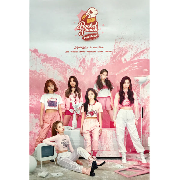 ROCKET PUNCH | 1ST MINI ALBUM [PINK PUNCH] | (version A) POSTER ONLY