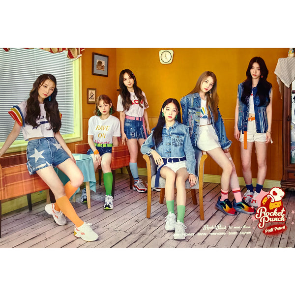ROCKET PUNCH | 1ST MINI ALBUM [PINK PUNCH] | (version B) POSTER ONLY