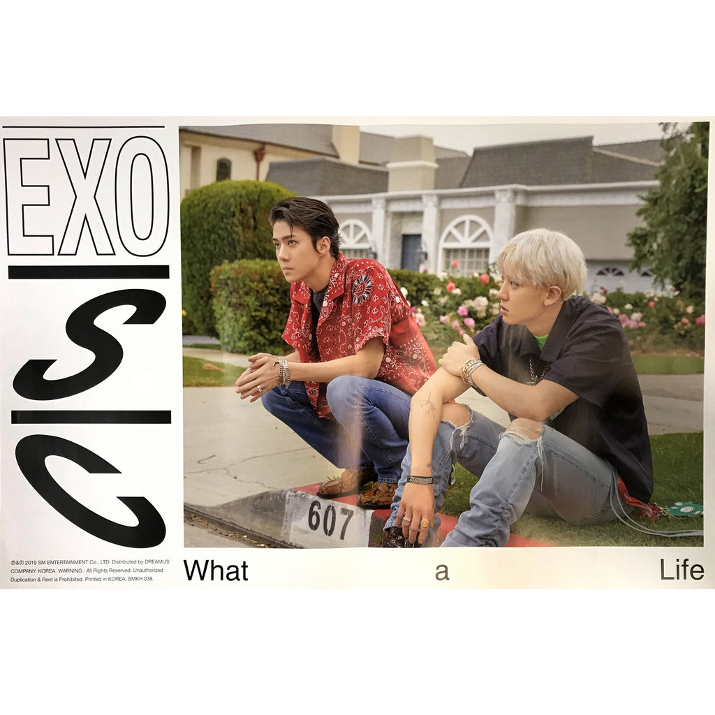 EXO - SC | 엑소-세훈 찬열 | 1st Mini Album | What a Life | (KIHNO version) POSTER ONLY