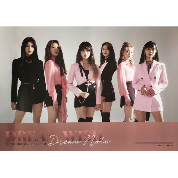 DREAM NOTE | 드림노트 |  3RD SINGLE ALBUM [DREAM WISH] | (VERSION A) POSTER ONLY