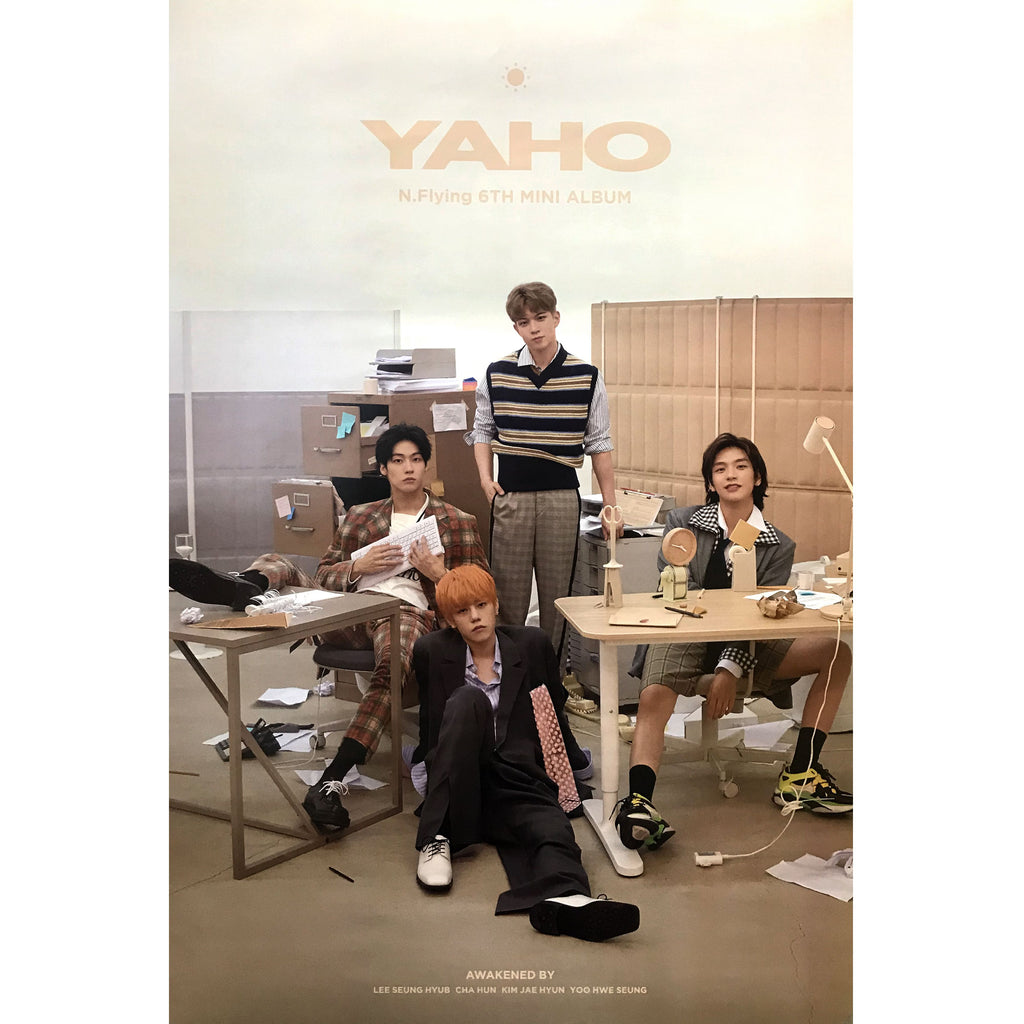 N-Flying | 6TH MINI ALBUM [YAHO] (VERSION A) POSTER ONLY