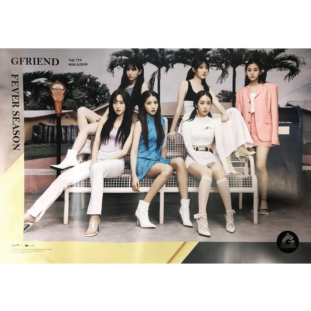 Gfriend | 여자친구 | 7th Mini Album | Fever season (帶(대) Ver.) | POSTER ONLY