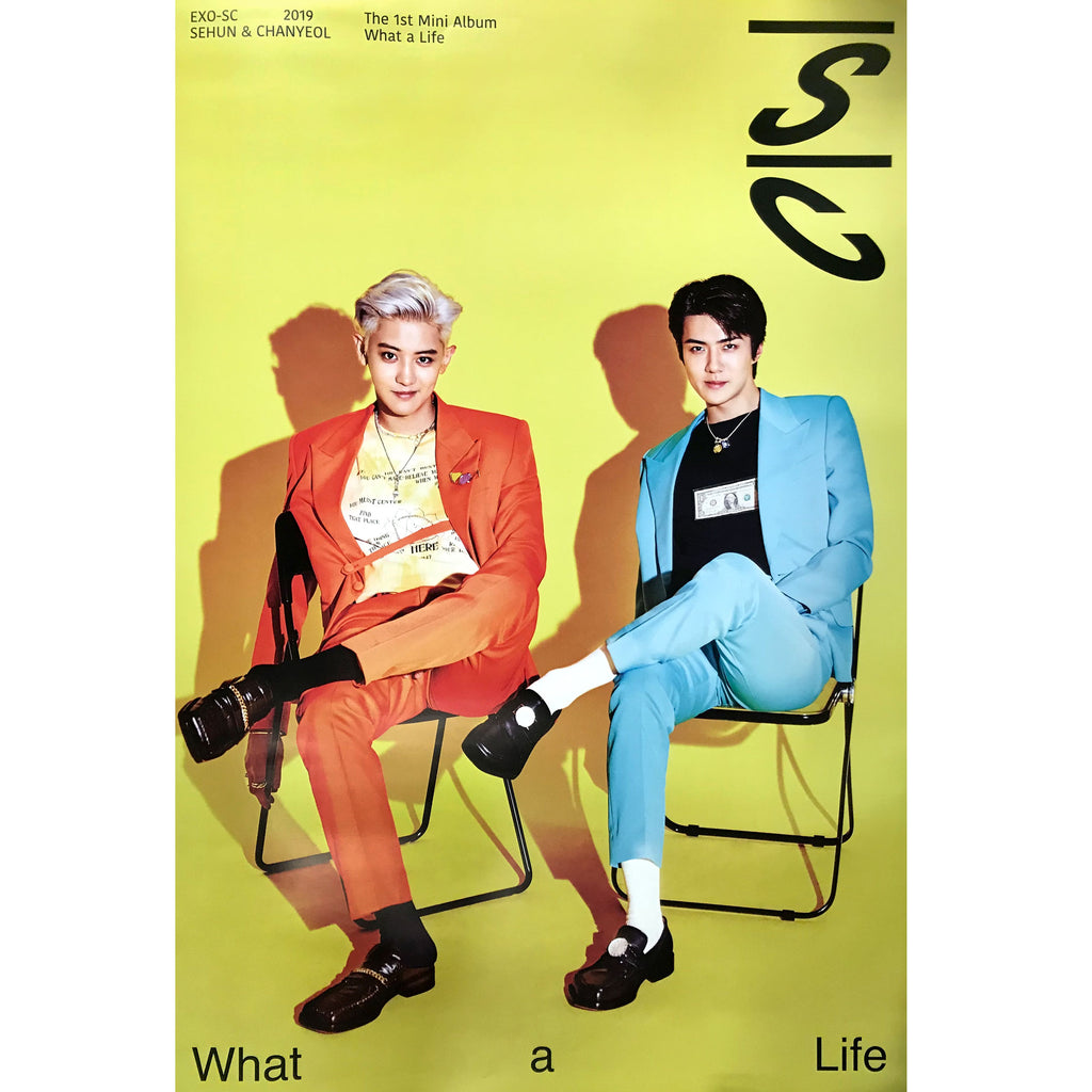 EXO - SC | 1st Mini Album | What a Life | POSTER ONLY