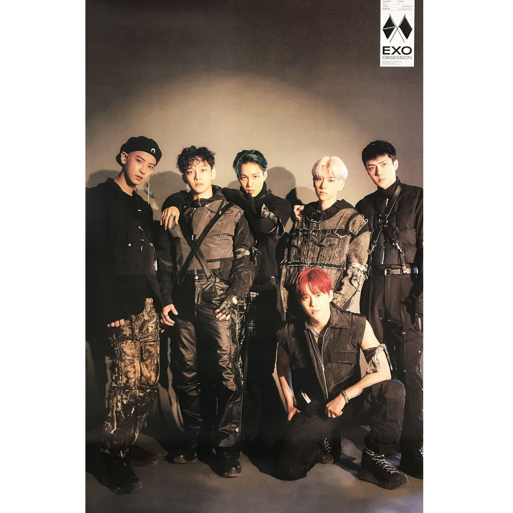 EXO | 6TH ALBUM [OBSESSION] | EXO VERSION | (GROUP) POSTER ONLY
