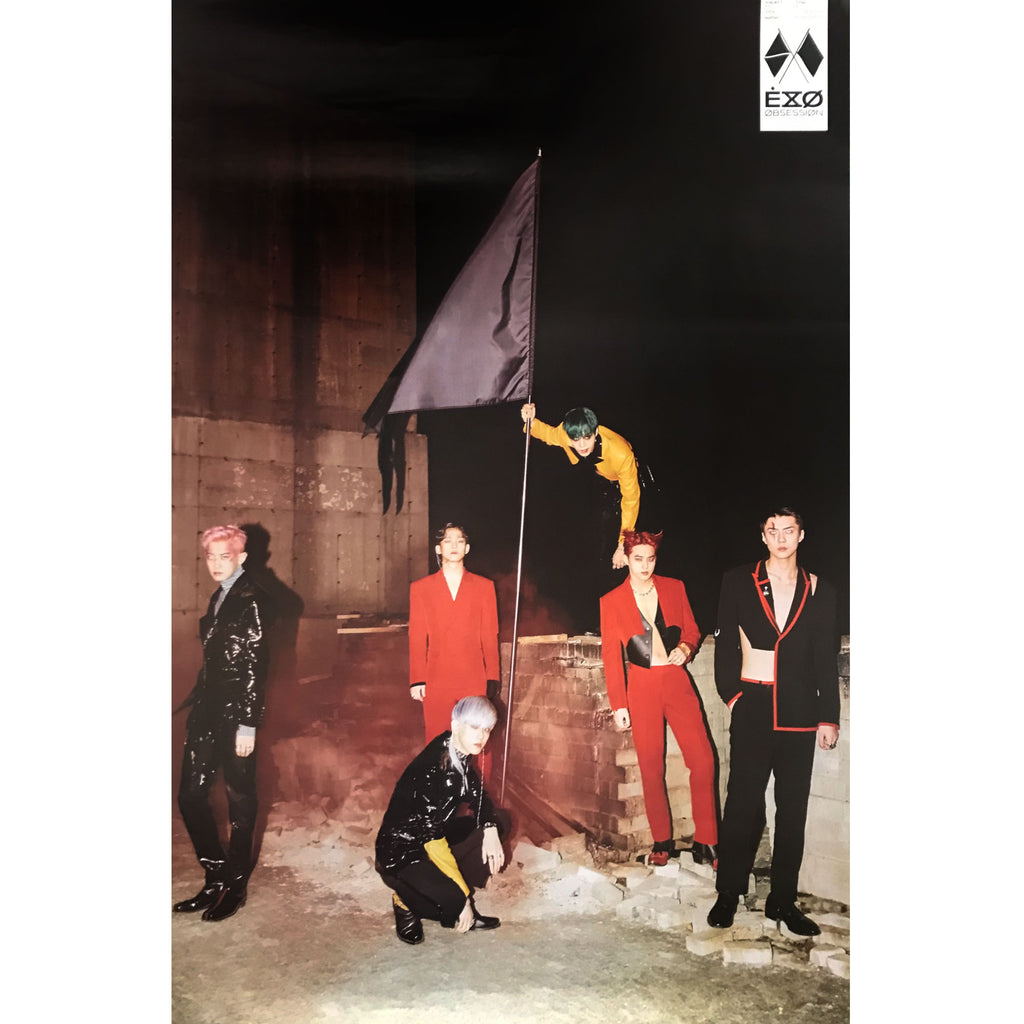 EXO | 6TH ALBUM [OBSESSION] | X-EXO VERSION | (GROUP) POSTER ONLY
