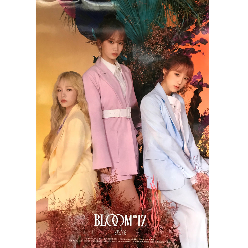 아이즈원 | IZ* ONE | 1ST ALBUM | BLOOM* IZ | [UNIT A] POSTER ONLY