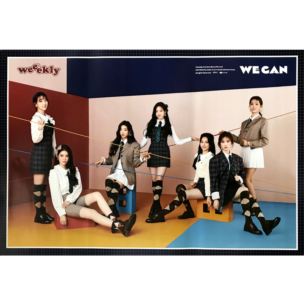 위클리 | WEEEKLY | 2ND MINI ALBUM [WE CAN] | (WAVE VER.) POSTER ONLY