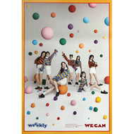 위클리 | WEEEKLY | 2ND MINI ALBUM [WE CAN] | (ORB VER.) POSTER ONLY
