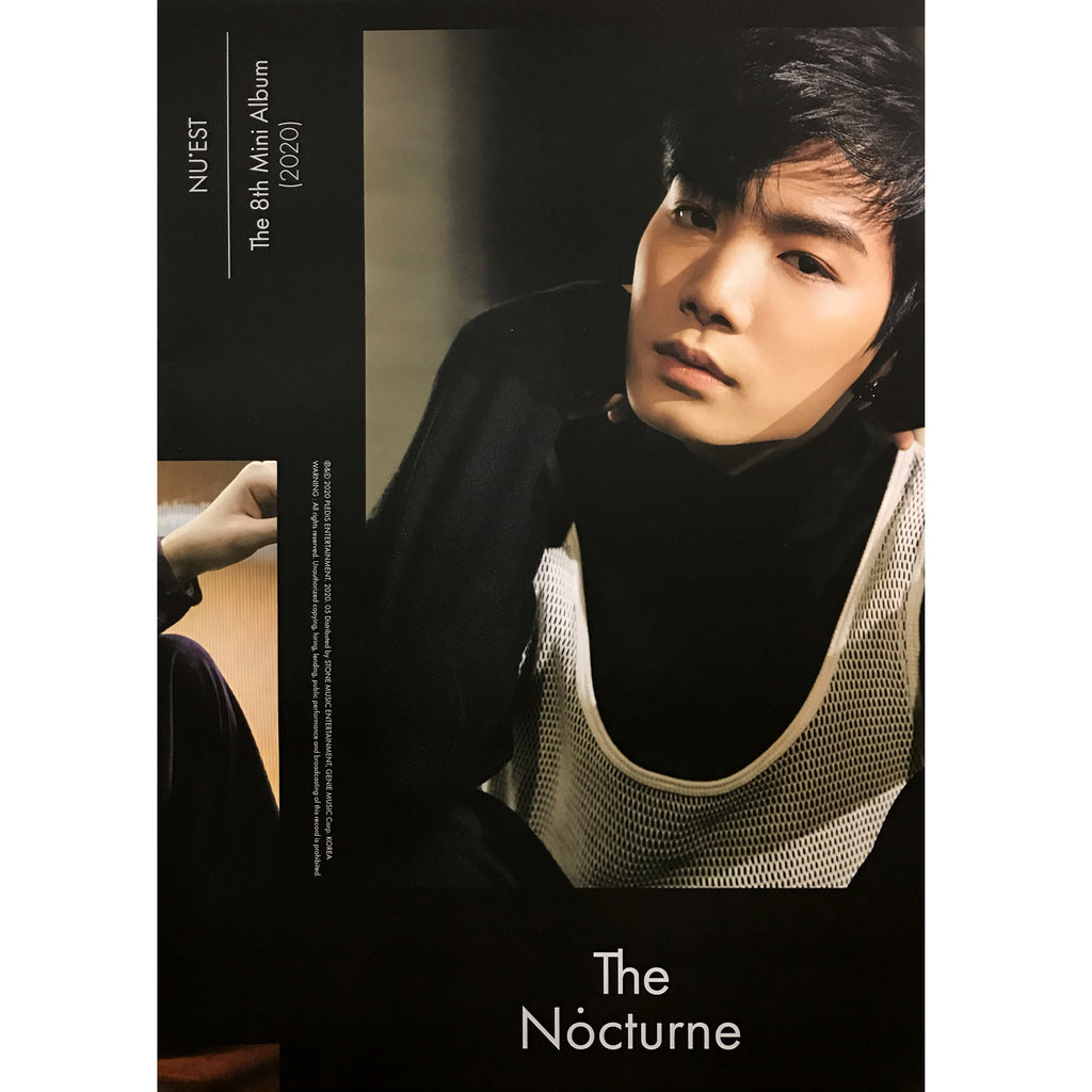 뉴이스트 | NU'EST | 8TH MINI ALBUM [THE NOCTURNE] | (JR) POSTER ONLY