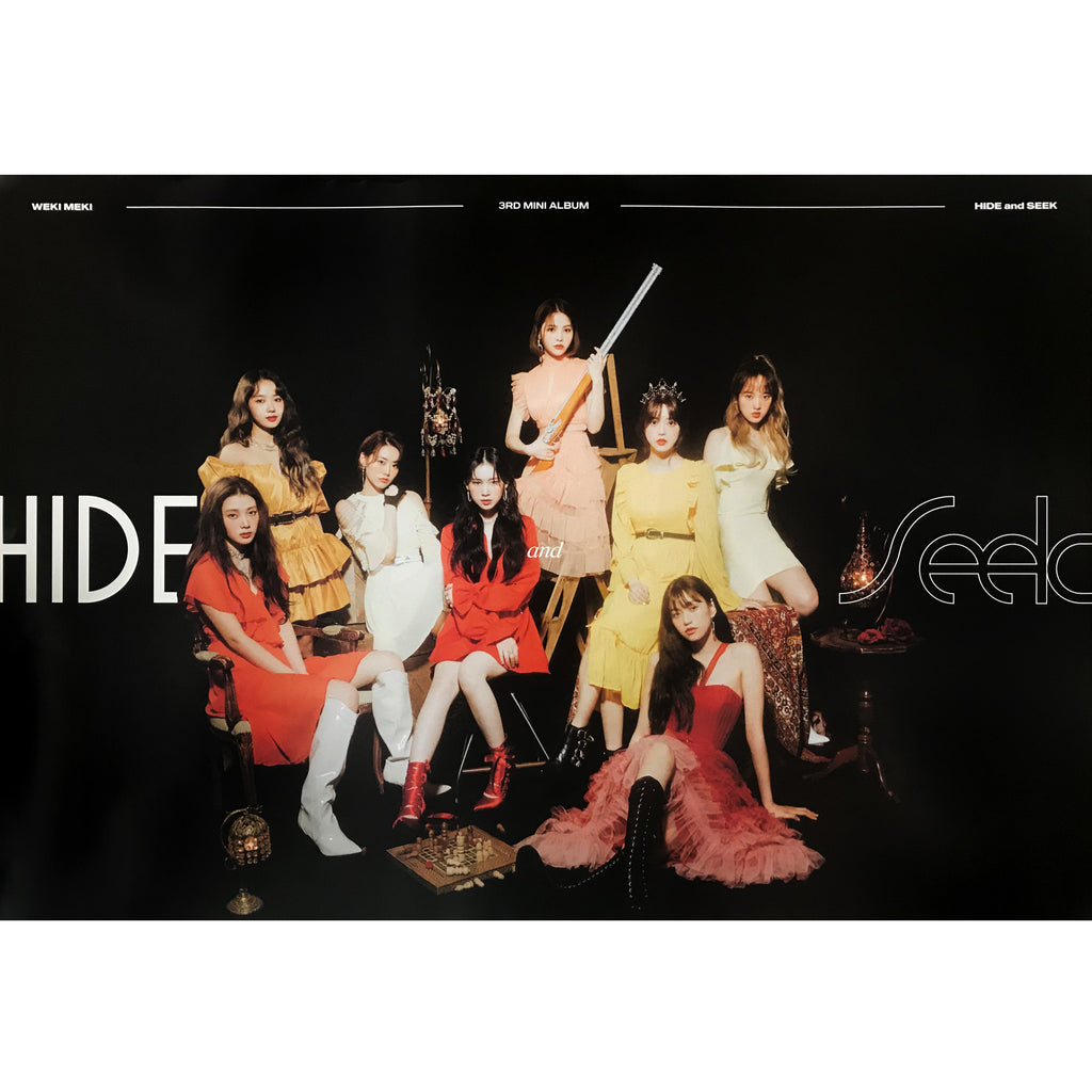 위키미키 | WEKI MEKI | 3RD MINI ALBUM [HIDE AND SEEK] | (HIDE VER.) POSTER ONLY