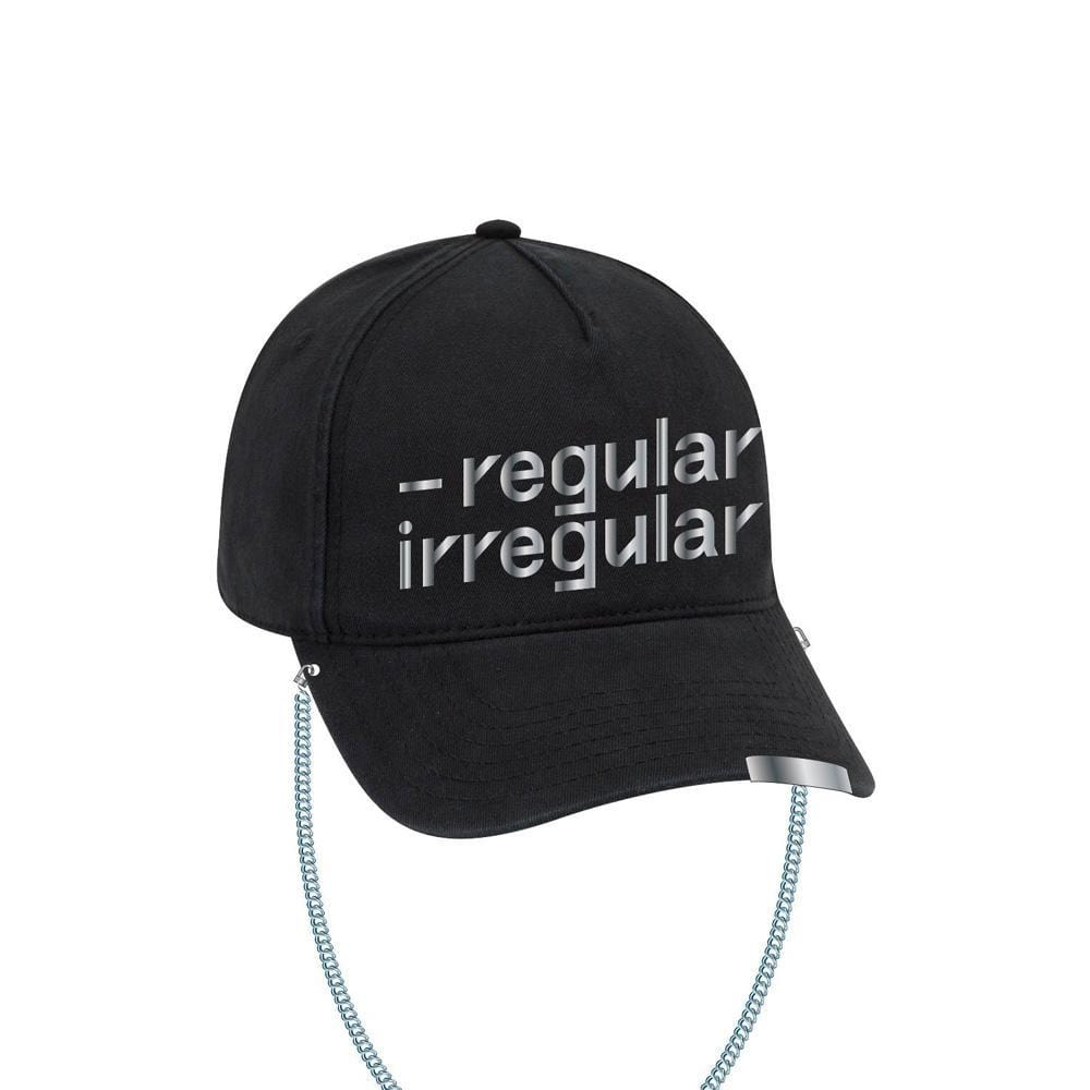NCT 127 OFFICIAL [ Regular-Irregular Black Dad Hat with Chain ]