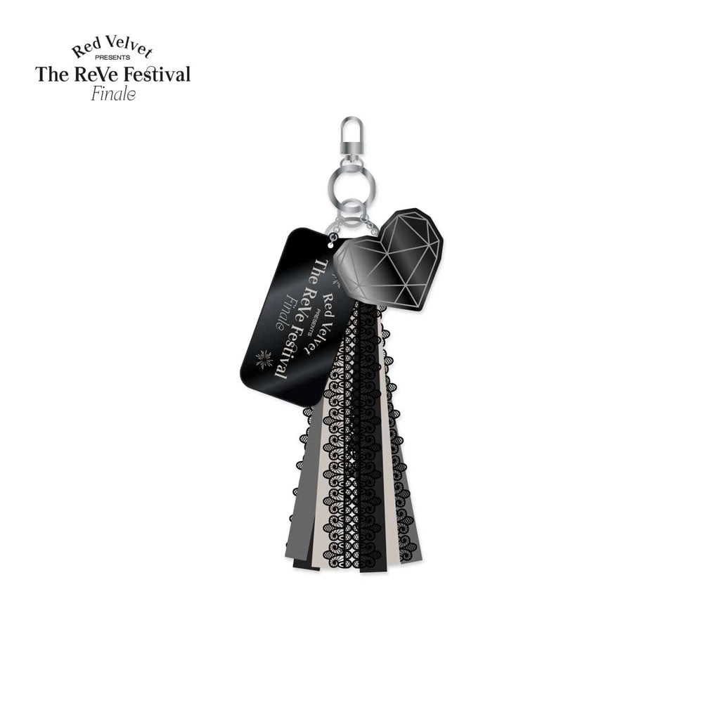 RED VELVET FINALE LACE TASSEL WITH CHARM KEYCHAIN