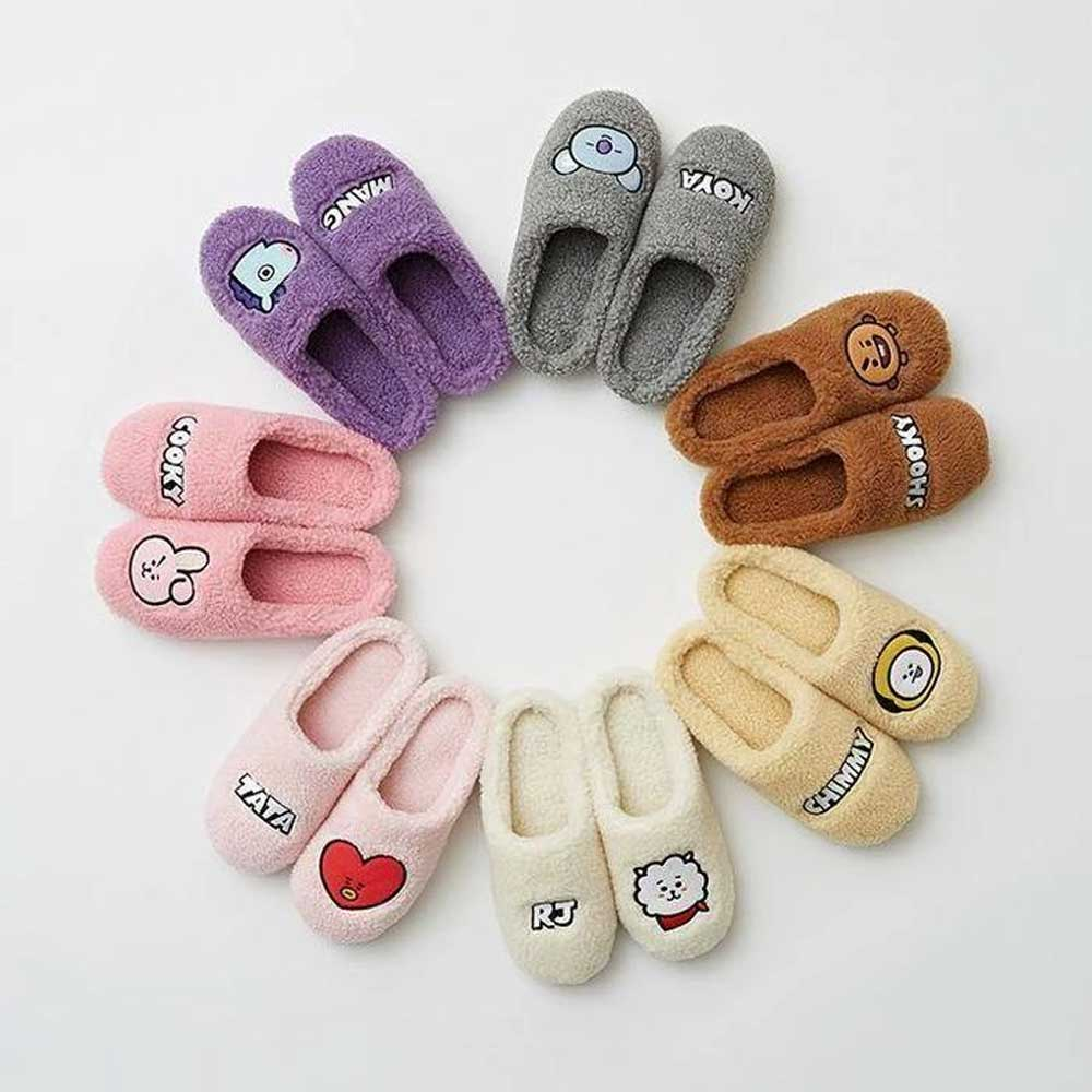 LINE FRIENDS* BT21 WINTER SLIPPERS [ SIZE 250mm/ US SIZE 8 ] | OFFICIAL MD
