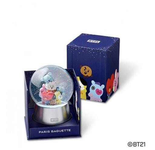 MUSIC PLAZA Goods BT21 X Paris Baguette OFFICIAL MD MELODY SNOW BALL