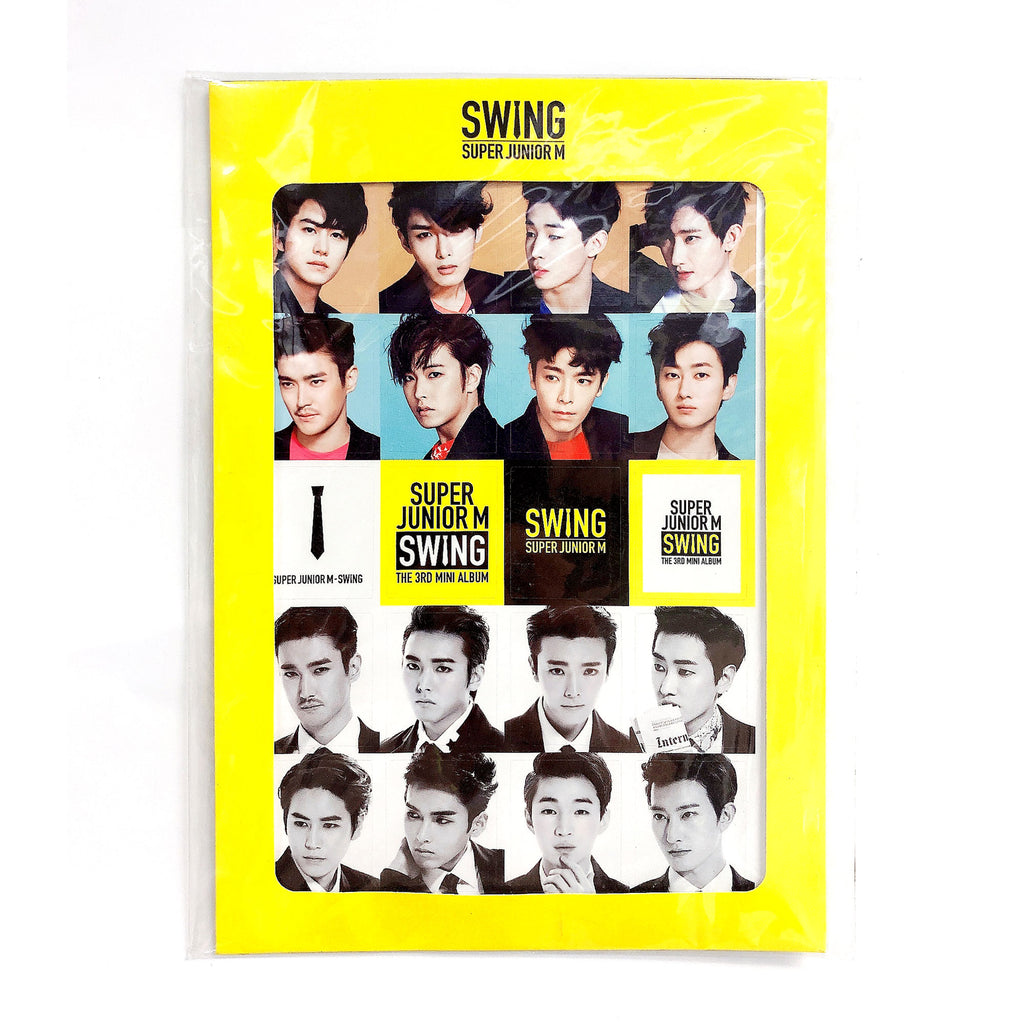 SUPER JUNIOR M STICKER + DONGHAE BOOKMARK