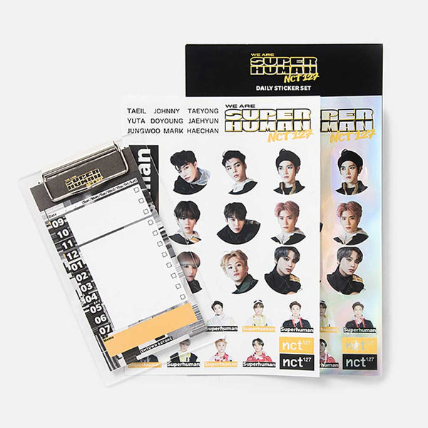 NCT 127 DAILY STICKER SET  [ WE ARE SUPERHUMAN ]