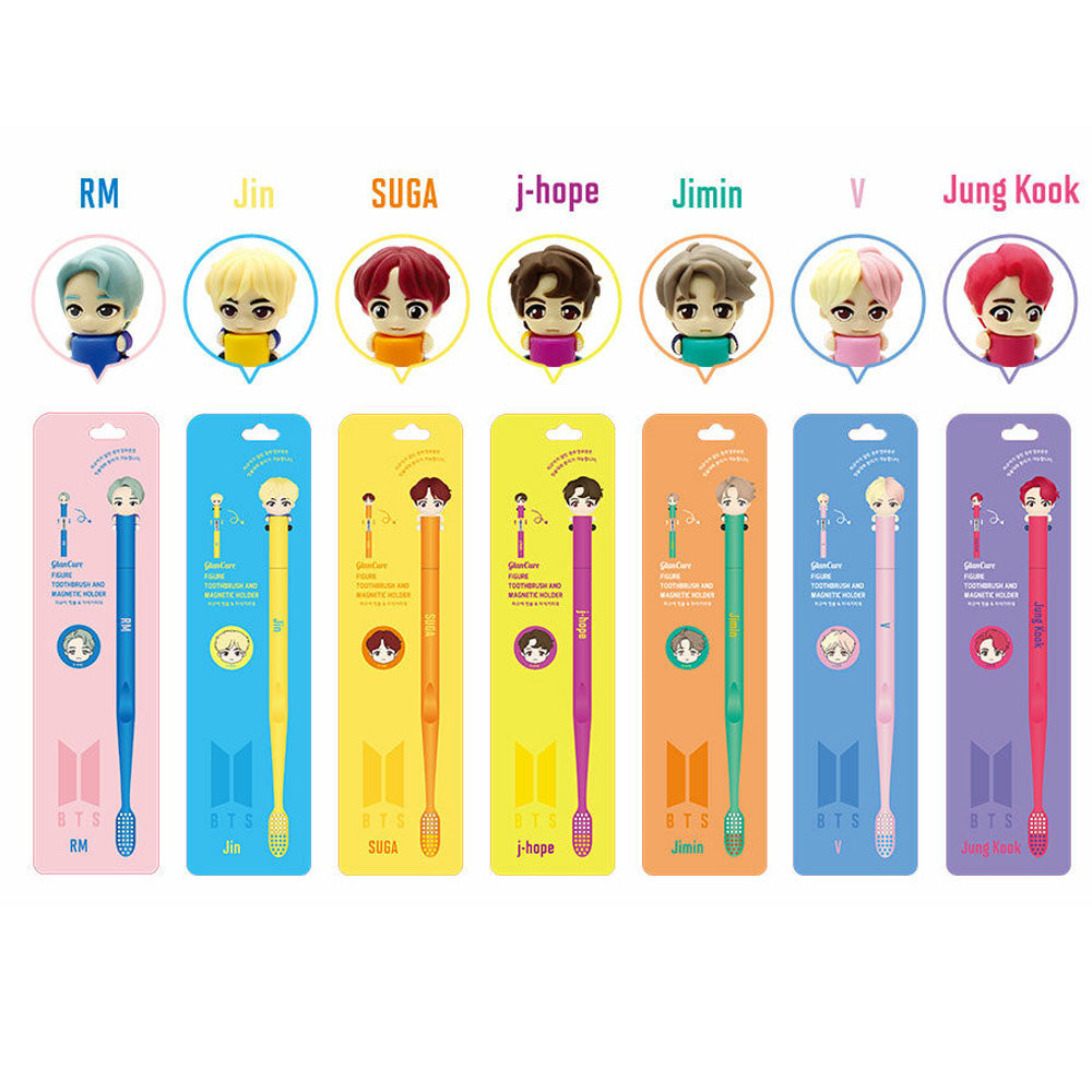 BTS CHARACTER FIGURE TOOTHBRUSH &MAGNET HOLDER