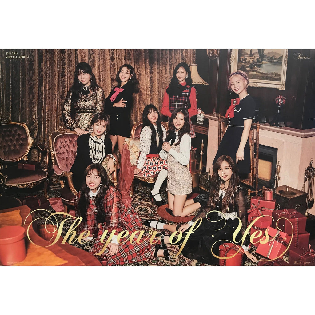 MUSIC PLAZA Poster A. ver 트와이스 | TWICE | THE 3RD SPECIAL ALBUM [ THE YEAR OF YES ] | POSTER