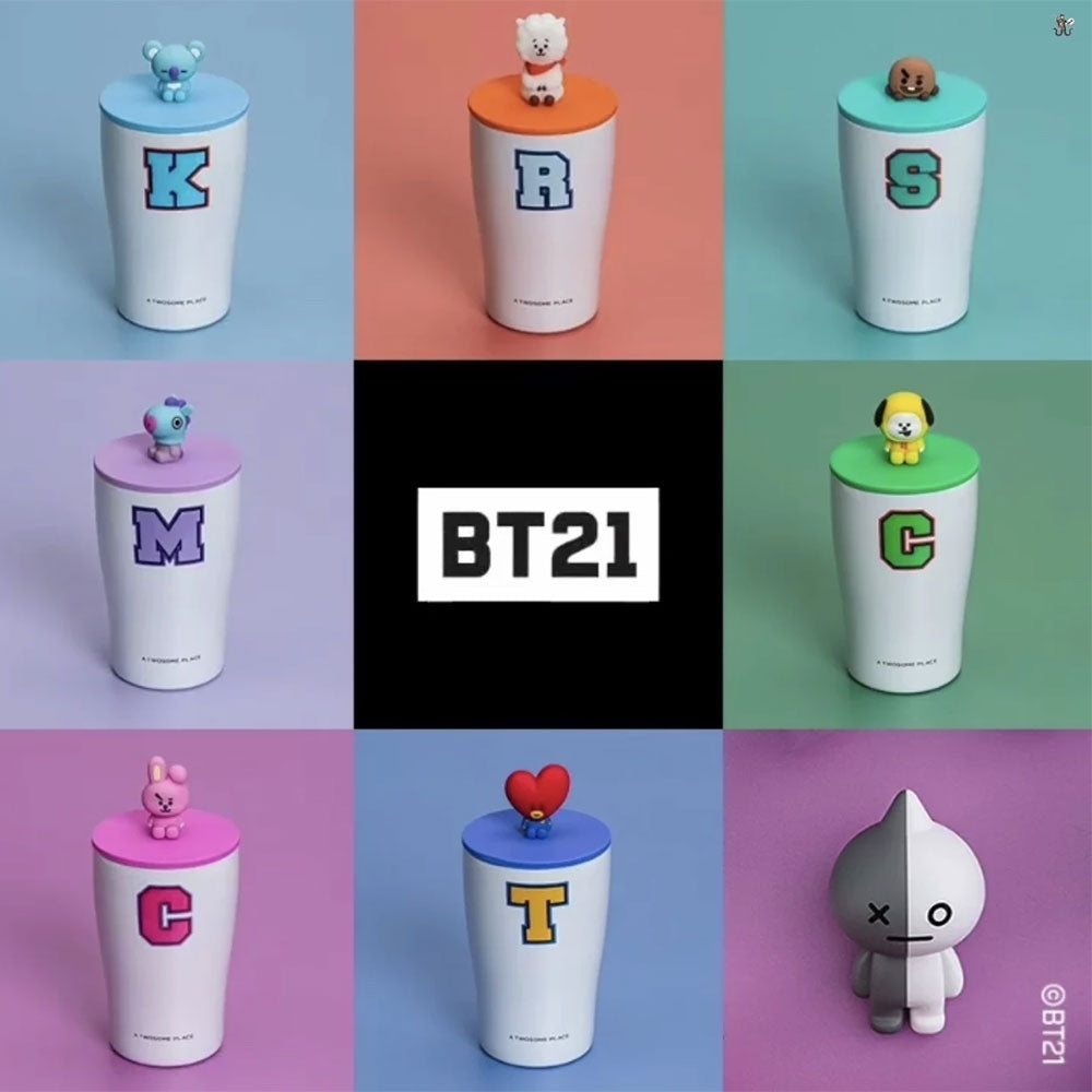 A TWOSOME PLACE * BT21 FIGURE STAINLESS CUP | OFFICIAL MD