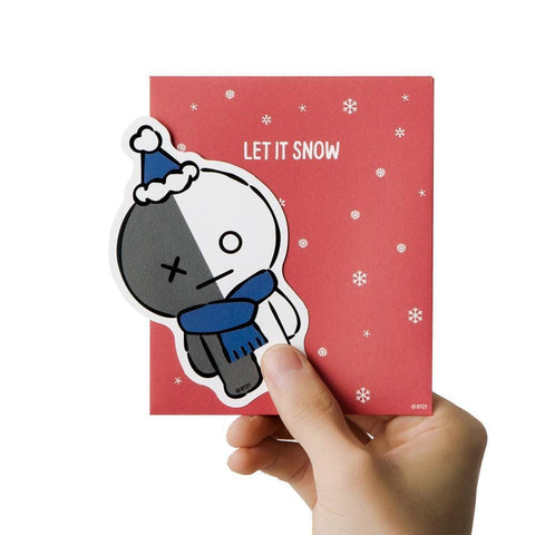WINTER BT21 [ VAN ] MESSAGE CARD