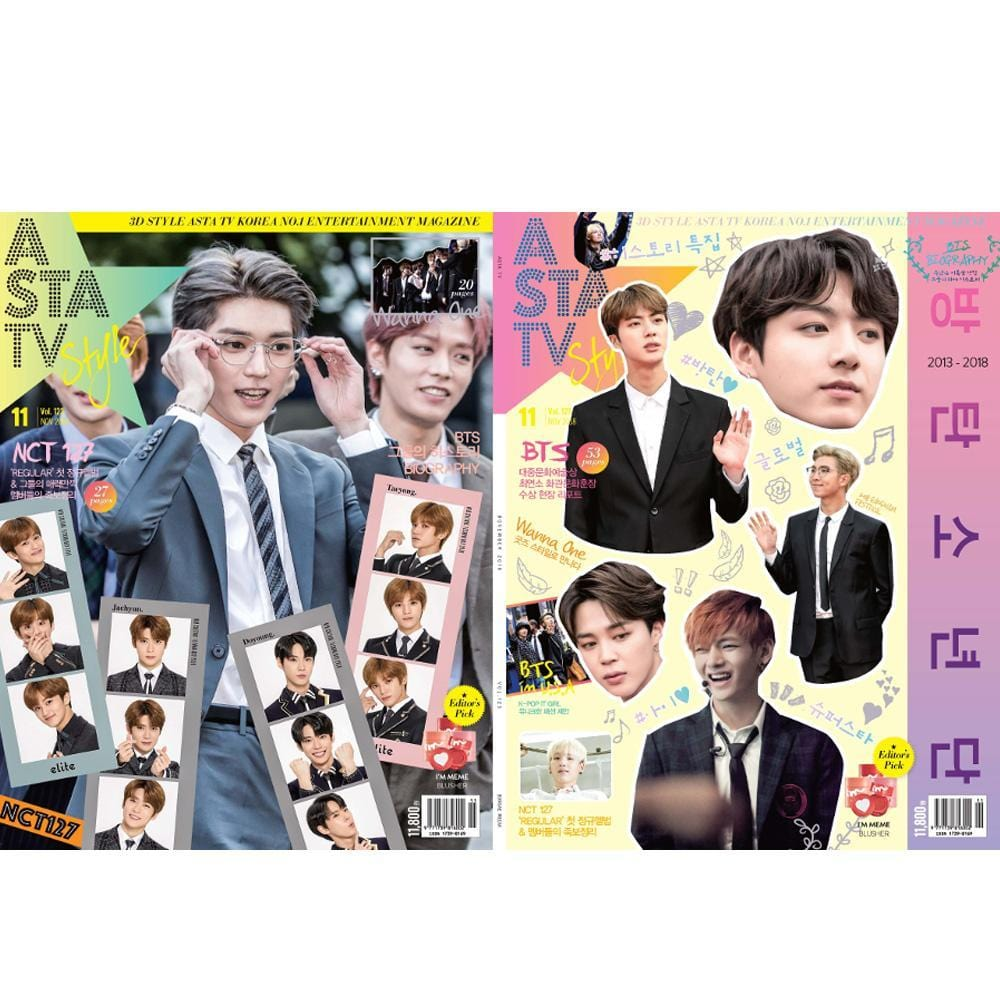 ASTA TV+STYLE 2018-11 [ COVER | BTS & NCT ]