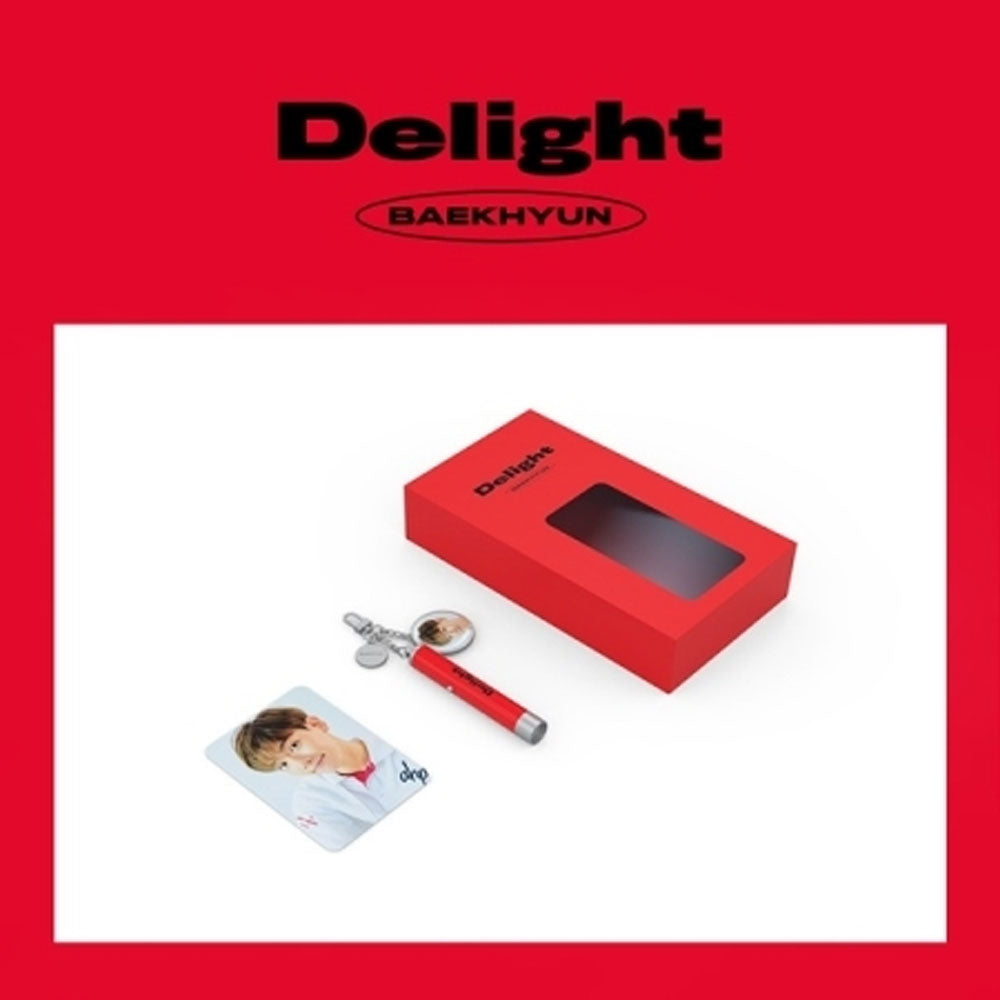 BAEKHYUN [ DELIGHT ]  PHOTO PROJECTION KEYRING WITH PHOTO CARD