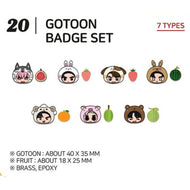 GOT7 [ BADGE SET ] GOTOON by GOT7 SUMMER STORE