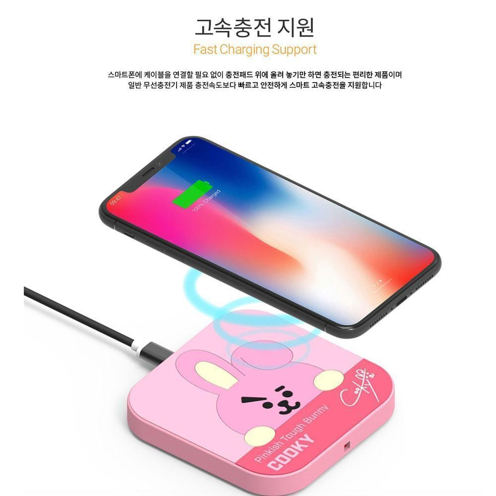 BT21 [ WIRELESS CHARGER + CABLE ] OFFICIAL MD