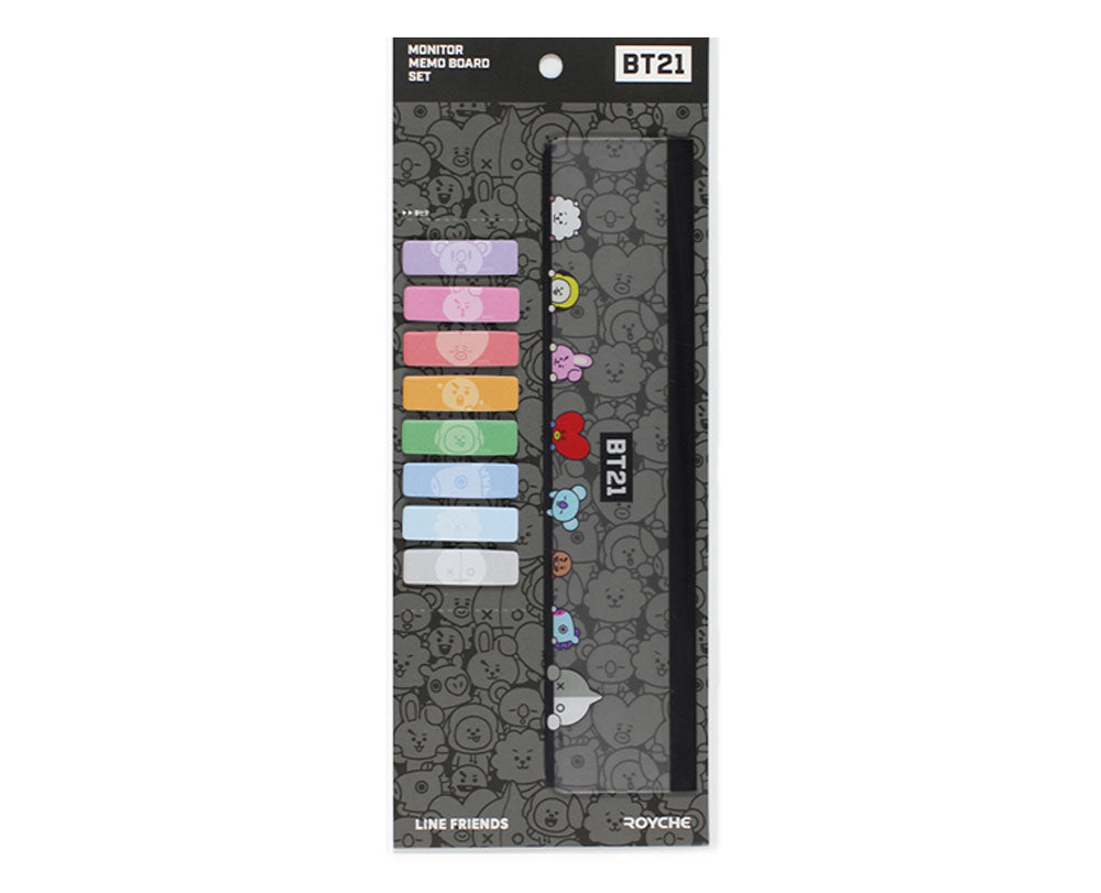 BT21 MONITOR MEMO BOARD SET