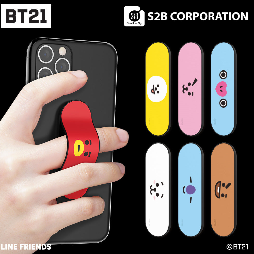 BT21 FACE HOLDER STICK PHONE STANDING