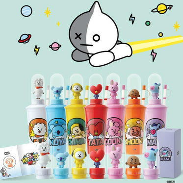 CGV x BT21 BTS SPACE STAR LIMITED SPECIAL EDITION TUMBLER WITH ACTION FIGURE
