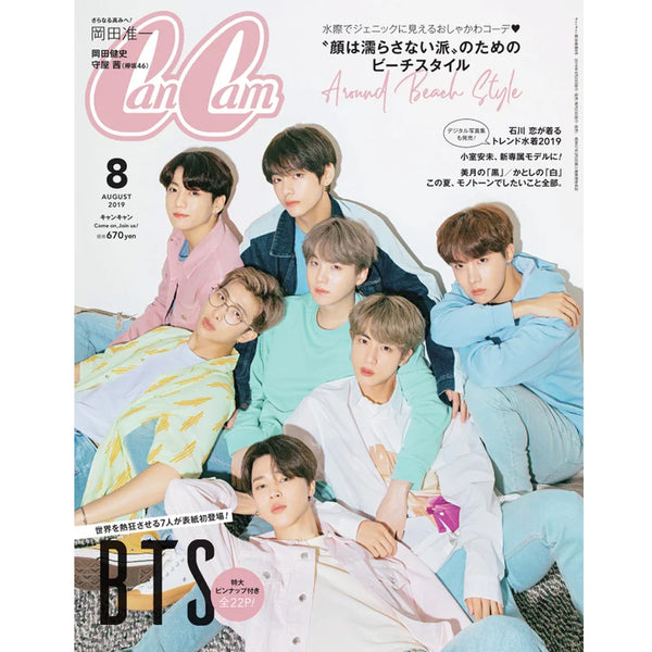 CANCAM [ 2019-8 ] COVER BTS story JAPANESE MAGAZINE